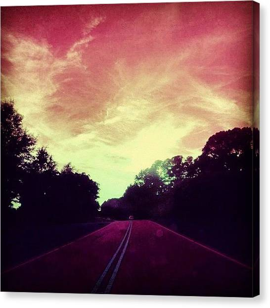 Rainbows Canvas Print - #justdriving #colourful #sky #road by Katie Williams
