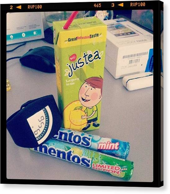 Limes Canvas Print - #justea #mentos #lime #lemon #mint by Bryan Thien