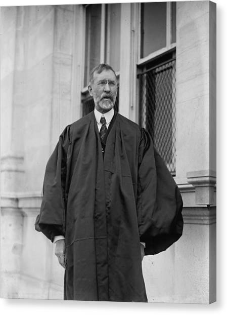Minimum Wage Canvas Print - Justice George Sutherland 1862-1942 Who by Everett