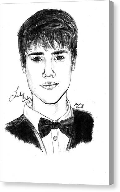 Justin Bieber Suit Drawing Canvas Print by Kenal Louis