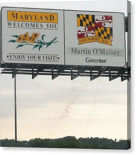 Maryland Canvas Print - @justinh218 And I Are Here!  Finally! by Brittany Hoffman