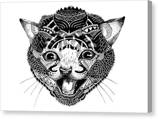 K Kat Canvas Print by JF Mondello