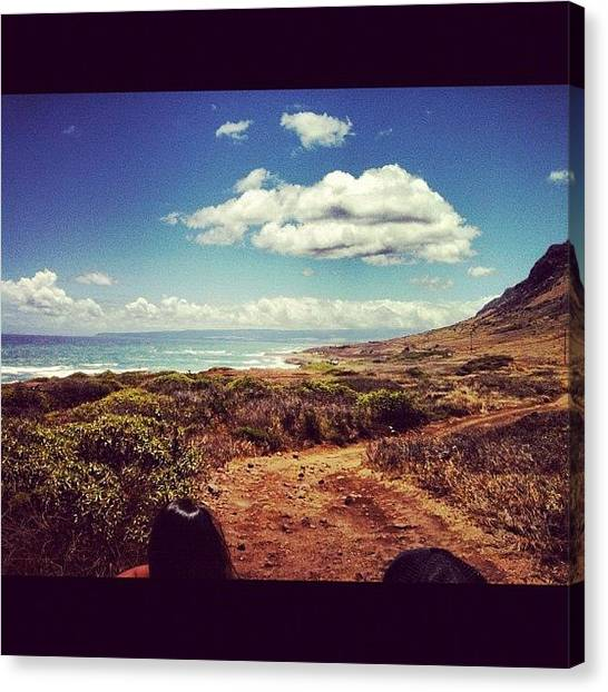 Offroading Canvas Print - Kaena Point by Devin Parado