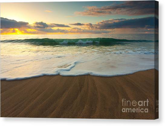 Kalalau Beach Sunset Canvas Print by Buck Forester