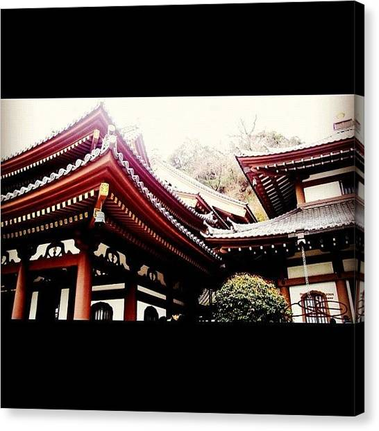Temples Canvas Print - Kannon-do Hall, Kamakura, Japan (2004) by Wolf Stumpf