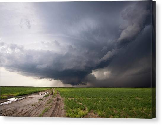 Cyclones Canvas Print - Kansas Distant Tornado Vortex 2 by Ryan McGinnis