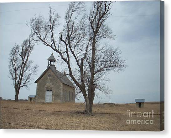 Kansas Stone Church Canvas Print