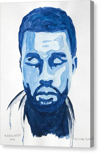 Kanye West Canvas Print by Michael Ringwalt
