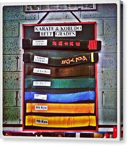 Taekwondo Canvas Print - Karate Belts #fairfax #fcnphoto #sydney by Luke Fuda