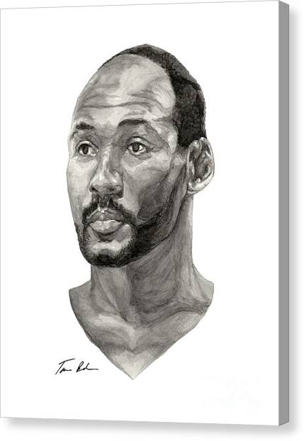 Utah Jazz Canvas Print - Karl Malone by Tamir Barkan