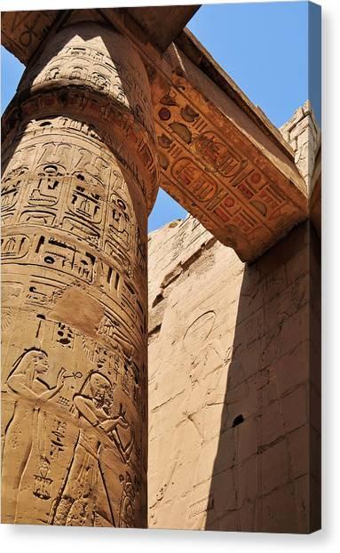 Egyptian Art Canvas Print - Karnak Temple Columns by Michelle McMahon