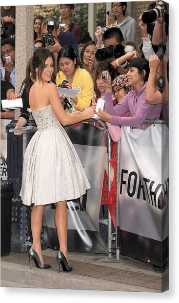 Toronto International Film Festival Tiff Canvas Print - Kate Beckinsale Wearing An Elie Saab by Everett