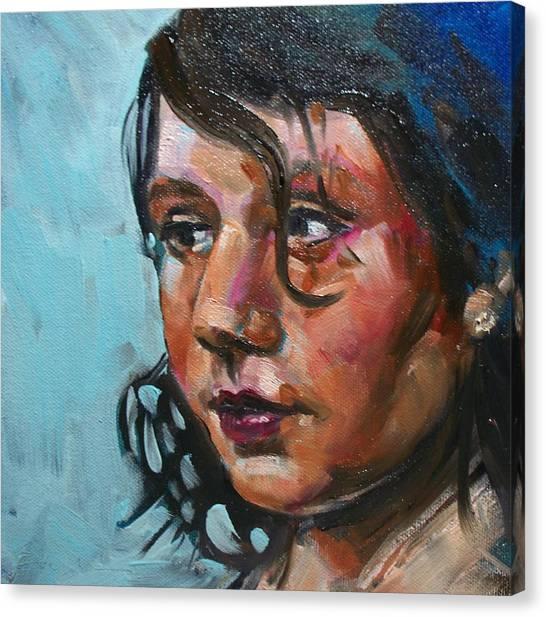 Katie Canvas Print by Sheila Tajima