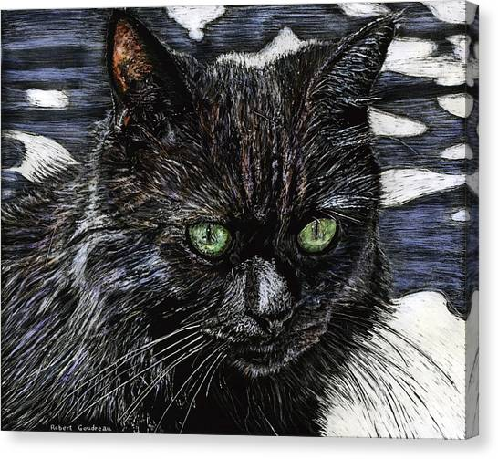 Katie The Cat Canvas Print by Robert Goudreau