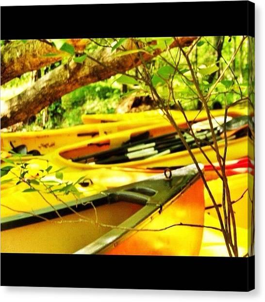 Kayaks Canvas Print - #kayak #kayaks #canoe #instahub by Aaron Justice