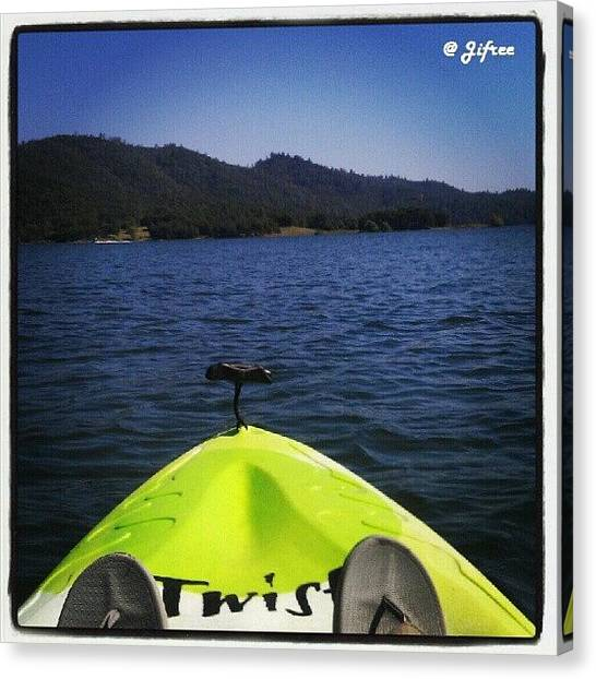 Yaks Canvas Print - Kayak Kinda Day by Jifree Photography
