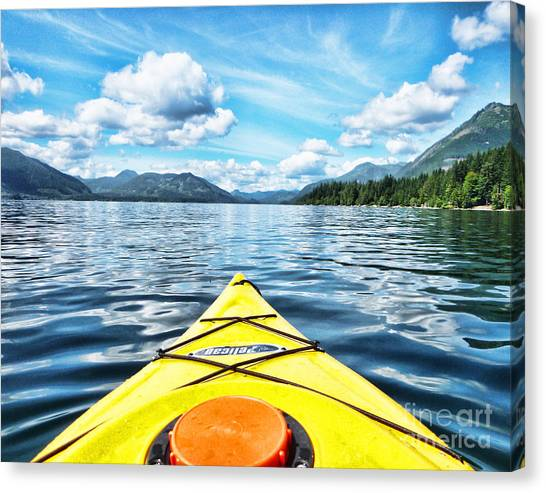 Kayaking In Bc Canvas Print