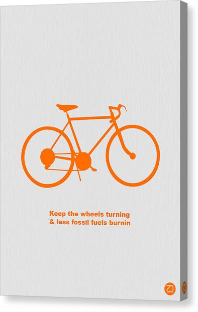 Bicycle Canvas Print - Keep The Wheels Turning by Naxart Studio