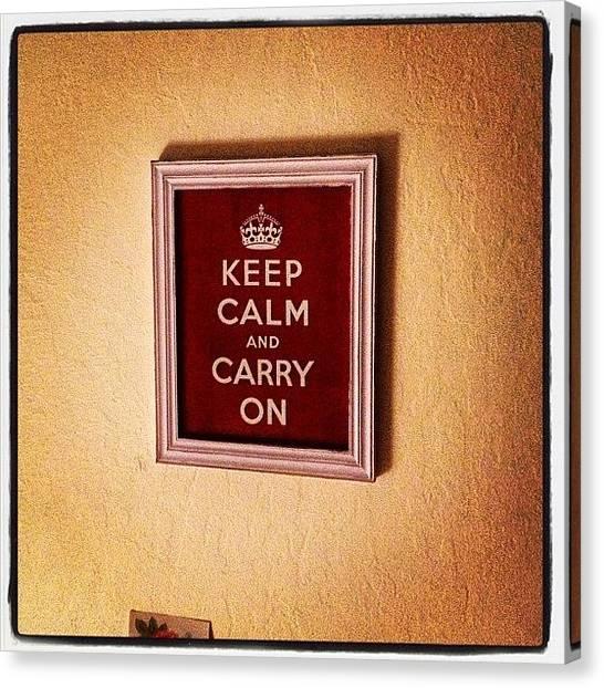 The Crown Canvas Print - #keepcalmandcarryon #calm #lofi by Emily Sheridan