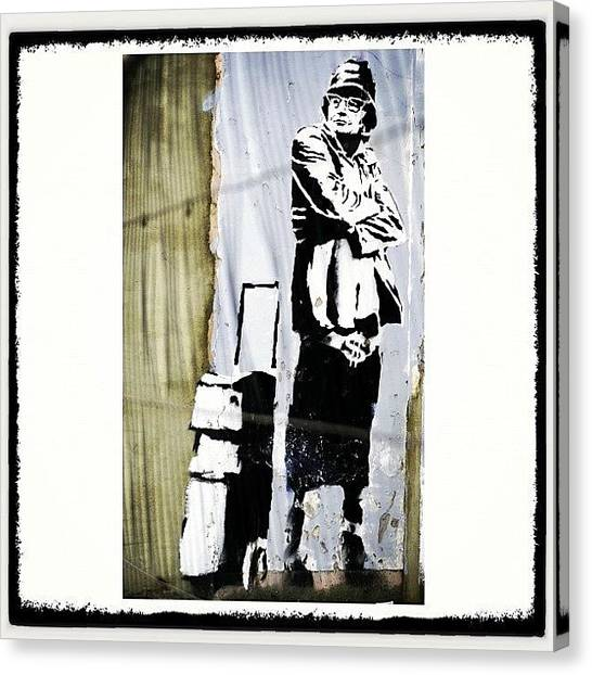 Schools Canvas Print - Keeping It Old School#banksy #stencil by A Rey
