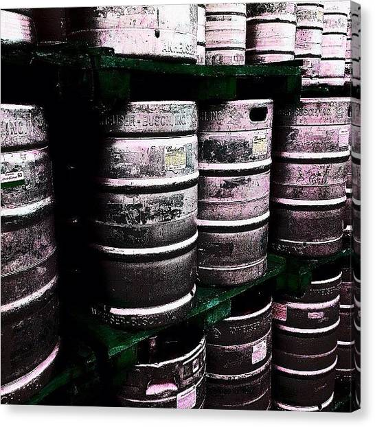 Keg Canvas Print - Kegs At Octoberfest In Cape Coral by Troy Thomas