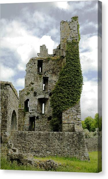 Kells Abbey Tower Canvas Print by George Crawford