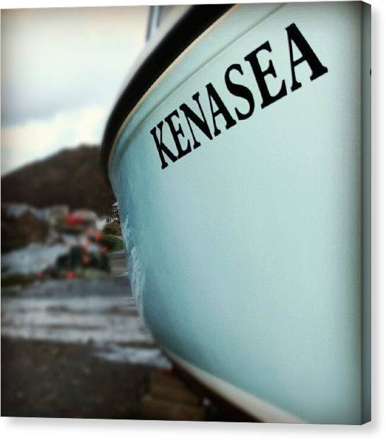 Fishing Boats Canvas Print - Kenasea by Iain Carter