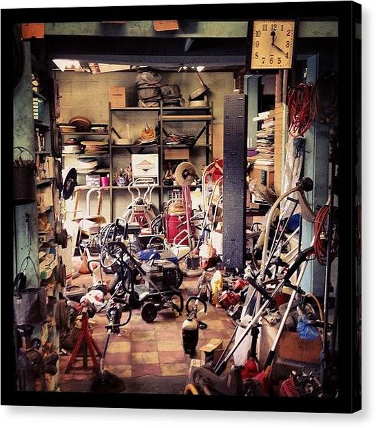Tools Canvas Print - Kenmore Renting Co Inc - I Love Places by Nicholas Colacicco
