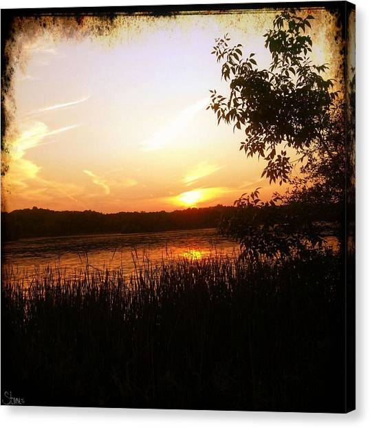 Lake Sunsets Canvas Print - Kensington Sunset by September  Stone