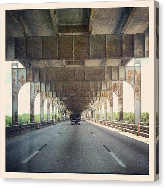 Roads Canvas Print - Kentucky Bridge Over The #ohioriver by Melissa Wyatt