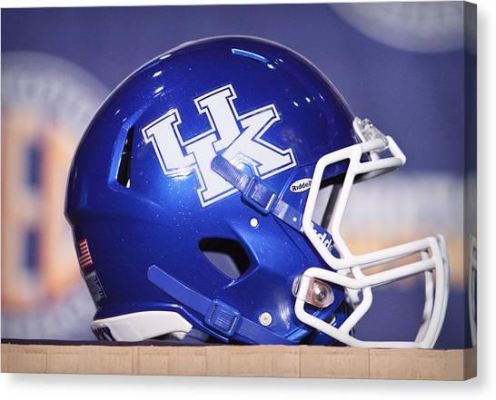 Sec Canvas Print - Kentucky Wildcats Football Helmet by Icon Sports Media