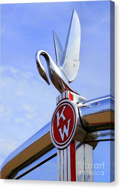 Kenworth Insignia And Swan Canvas Print