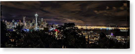 Kerry Park Night View Canvas Print
