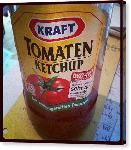 Tomato Canvas Print - Ketchup - Tomato Sauce by Wondereye