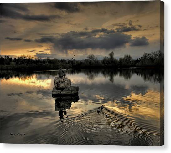 Ketring Lake Sunset Canvas Print