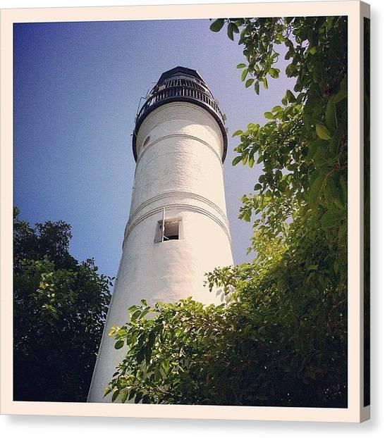 White House Canvas Print - Key West Lighthouse #old #white by Sebastiaan Van der Graaf
