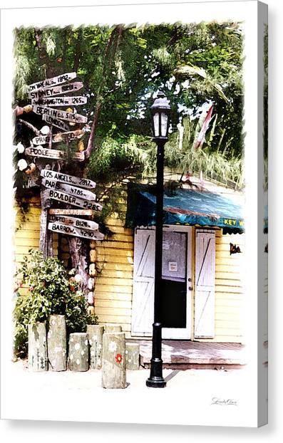 Key West Signs Canvas Print by Linda Olsen