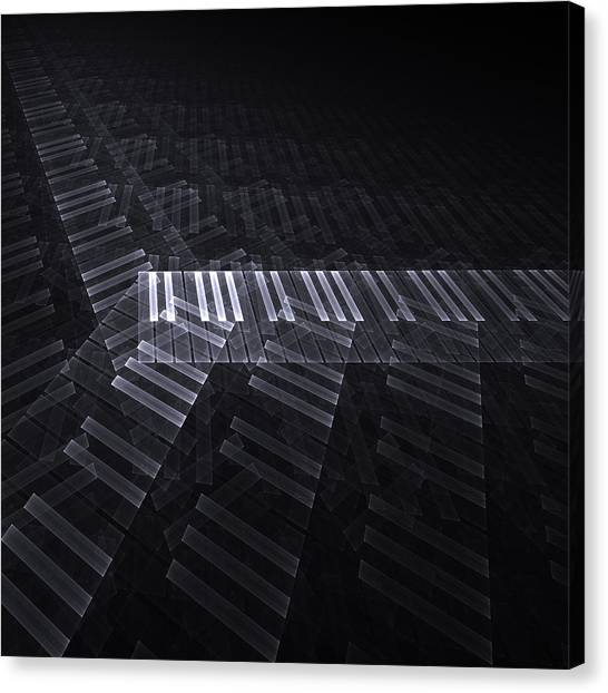 Synthesizers Canvas Print - Keyboard by Kim French