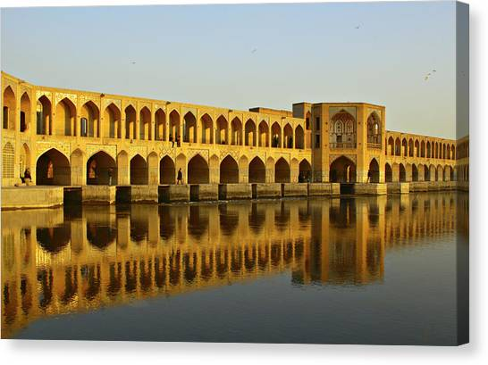 Iranian Canvas Print - Khaju Bridge by Kelly Cheng Travel Photography