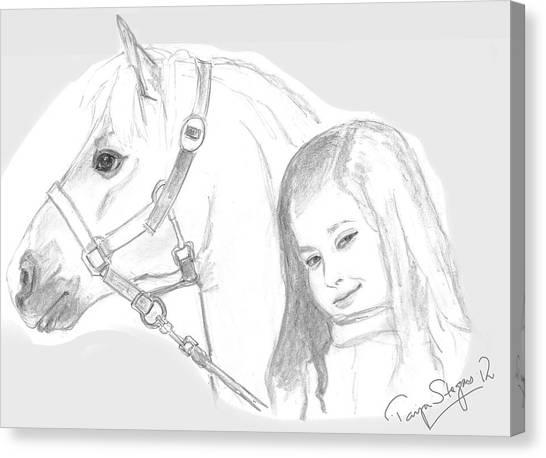 Kiara And Pony Canvas Print
