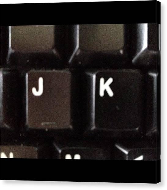 Keyboards Canvas Print - Kidding by Doug Smeath
