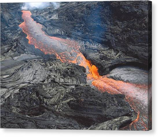 Kilauea Lava Flow Canvas Print