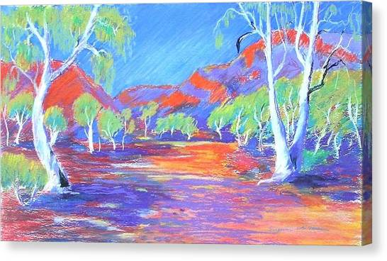Canvas Print featuring the painting Kimberley Track # 4 by Virginia McGowan