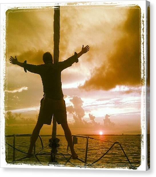 Sunset Canvas Print - King Of The World? by Dustin K Ryan