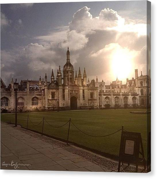 College Canvas Print - King's College In Cambridge by Jane Emily