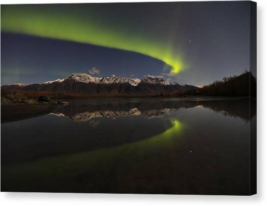 Knik Alaska Northern Lights Canvas Print by Sam Amato