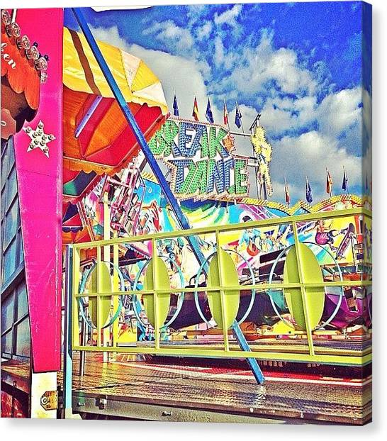 Berlin Canvas Print - Kirmes by Cornelia Woerster