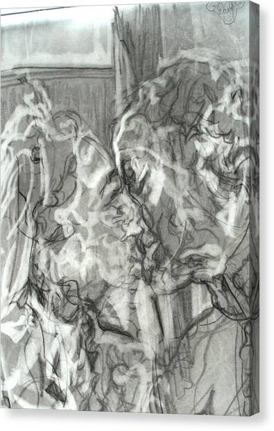 Kiss Canvas Print by Godfrey McDonnell