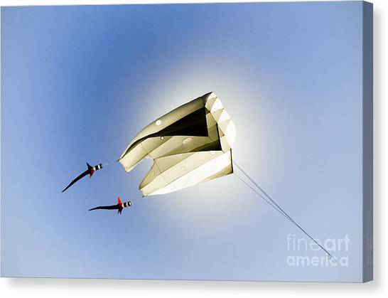Kite And The Sun Canvas Print by David Lade