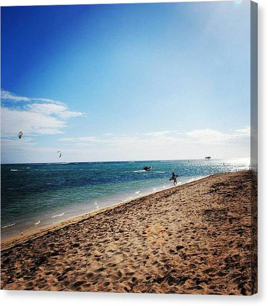 Environment Canvas Print - Kite Surfing Nearing Sunset by Fotocrat Atelier